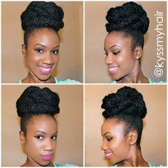 Marley bun hair tutorial *Natural Hair