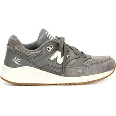 New Balance 530 90s Running Solids Sneakers (695 DKK) ❤ liked on Polyvore featuring shoes, sneakers, grey, new balance, gray sneakers, leather sneakers, genuine leather shoes and new balance trainers