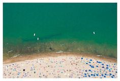 Gray Malin, Oak Street Beach, Chicago
