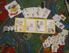 Totbooks and activities to go with themes and letters.