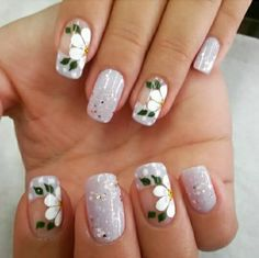 Cute Pedicure Designs, Flower Nail Designs, New Nail Designs, Gel Manicure, Mani Pedi, Pretty Nails, Fun Nails, Cute Pedicures, Nail Art Videos