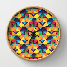 Double Trouble Wall Clock by Danny Ivan - $30.00