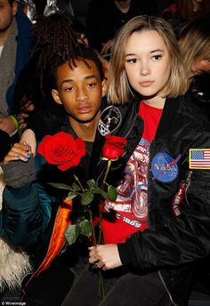 Fashion infatuation! Jaden Smith, 17, and his girlfriend, Sarah Snyder, 19, attended the H...