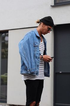 Get this look: http://lb.nu/look/7840344  More looks by Richy Koll: http://lb.nu/richykoll  Items in this look:  H&M Jeans, H&M Shirt, Oversize Jeansjacket, Ray Ban Glasses, H&M Cap   #minimal #street #vintage #look #paris