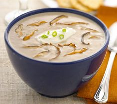 Chavrie - Mushroom Soup with Chavrie® Goat Cheese - Delicious!. Adjusted recipe to 1 cup of milk, 2 cups veggie stock, garlic, 1 TB butter, 1 TB extra virgin olive oil.