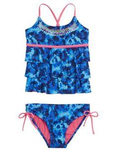 Dye Effect Tankini Swimsuit