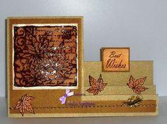 Card by Linda. Sparkle Gel, Leaves decoupage stamp set.