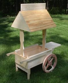 Kids Lemonade Stand Cart Kit Imaginary Pretend Play Grocery Store Toy Solid Wood