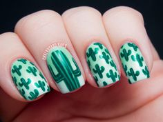 31DC2013 Day 21: Inspired by a Color (Color Club Wild Cactus) | Chalkboard Nails | Nail Art Blog