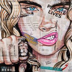 "Saatchi Art Artist Conrad Crispin Jones; Collage, ""New Tattoo"" #art"