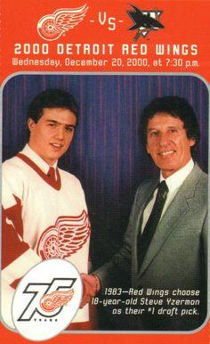 1983 - Red Wings choose Steve Yzerman as their draft pick. Hockey Logos, Hockey Players, Hockey Mom, Ice Hockey, Wing Wednesday, Detroit Vs Everybody, Steve Yzerman, Red Wings Hockey, Detroit Sports