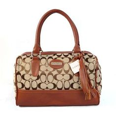 Coach Legacy Weekend In Signature Medium Brown Satchels ADO Can Be A Nice Friend And Would Be A Member Of Your Family!