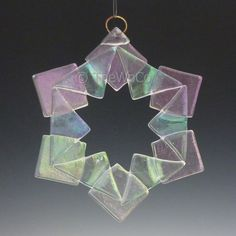 BAUBLES Clear Iridized Snowflake Fused Glass Ornament by TheWoCo