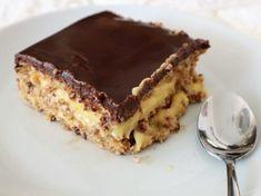 Tarta de la abuela: deliciosa tarta con chocolate, natilla y galleta Canapes, Sin Gluten, Flan, Tiramisu, Tapas, Food And Drink, Cooking Recipes, Sweets, Chocolate Cake Recipes