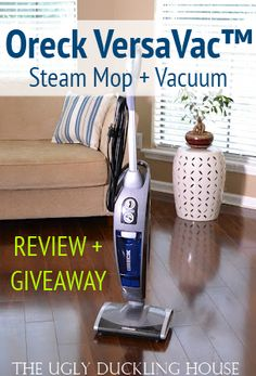 Oreck VersaVac review and giveaway - The Ugly Duckling House