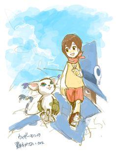 Gatomon and Kari - Digimon Adventure