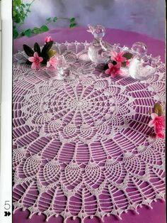 crochet napkin tablecloth