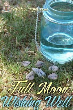 Nature Crafts Full Moon Dream Drop Wishing Well Spell for Witches, Pagans, and Wiccans Wiccan Rituals, Wicca Witchcraft, Pagan Witch, Witches, Green Witchcraft, Magick Spells, White Witch Spells, Hoodoo Spells, Luck Spells