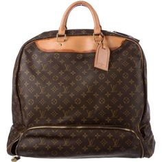 Pre-owned Louis Vuitton Monogram Evasion Bag ($845) ❤ liked on Polyvore featuring men's fashion, men's bags, brown, mens monogrammed toiletry bag, mens brown leather bag, mens bag and louis vuitton mens bag