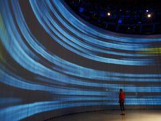 Circular screen.