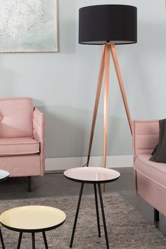 Decospot | Livingroom Inspiration | Zuiver Tripod & Enamel Tables. Available at decospot.be webshop.