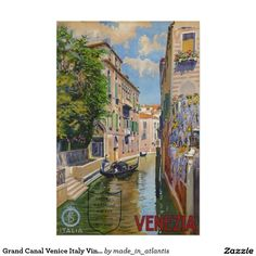 Grand Canal Venice Italy Vintage Travel Poster