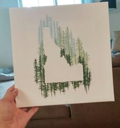 Painting - super easy, you can do it with any state. Idaho art!
