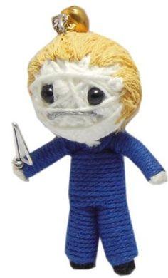 Halloween Michael Voodoo String Doll Keychain NaLuck. $2.99