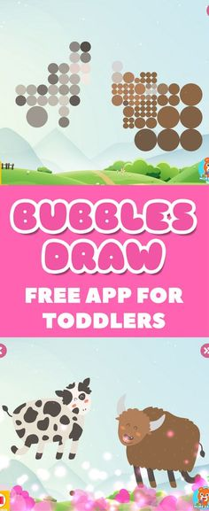 BUBBLES DRAW is a simple and adorable game for toddlers that helps with fine motor skills and it plays with their imagination.