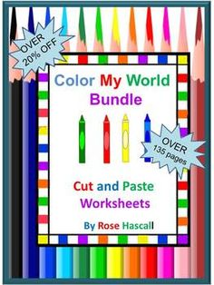 Colors: Color My World Bundle-Teaching colors? Need a Unit for teaching colors? If so, this bundle is for you. It contains 7 Color My World products . WOW!!! That's over 135 pages of fun activities to help your students learn and recognize their colors. AND, you will love the savings at over 20% off!