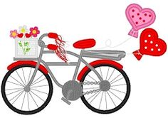 Valentine Bike Applique - 3 Sizes! | What's New | Machine Embroidery Designs | SWAKembroidery.com Band to Bow