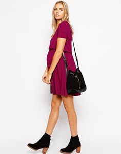 Enlarge ASOS Maternity NURSING Skater Dress With Double Layer