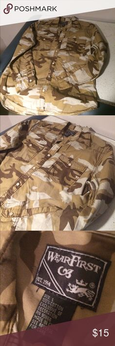 Desert Camo Long Sleeve Dress Shirt Very good condition, barely worn! No stains, no rips. Smoke free home! Shirts Dress Shirts