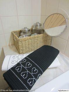 kylpyhuone,ompelu,kirjonta,Tee itse - DIY,kylpypyyhe