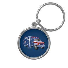 EMS Ambulance Keychain