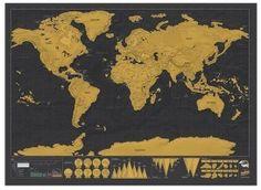 Scratch Map Deluxe. Kras waar je bent geweest weg en je hebt je eigen persoonlijke wereldkaart! #wereldkaart #scratchmap #landkaart #reiscadeau #cadeau #reizen #wereldreis