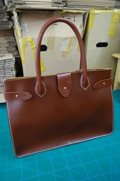 Hand Stitched Leather Tote / Doctor Bag / Lady by sunmarkstudio, $149.00