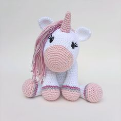 Love Crochet, Hello Kitty, Fictional Characters, Art, Crochet Unicorn, Security Lock, Crochet Animal Amigurumi, Amigurumi Patterns, Free Pattern