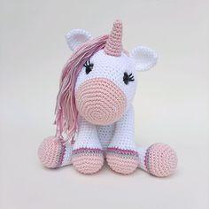 Hello Kitty, Fictional Characters, Crochet Unicorn, Security Lock, Nursery Decor, Crochet Animal Amigurumi, Free Pattern, Atelier