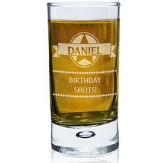 Personalised Diamond Bubble Shot Glass :: Perfect gift to get the party started - In Stock Now - Fast UK Despatch. Personalised Glasses, Personalised Gifts For Him, Engraved Gifts, Birthday Shots, Boy Birthday, Bubble Shot, Usher Gifts, Fathers Day Gifts, Man Gifts