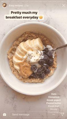 Healthy Breakfast Recipes, Healthy Snacks, Snack Recipes, Cooking Recipes, Healthy Recipes, Diet Snacks, Diet Meals, Eating Healthy, Smoothie Recipes