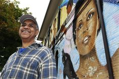 Reynaldo Hernandez, one of Milwaukee's most prolific muralists, has begun work preserving one of his most recognizable works: the mural on the side of the former Inner City Arts Council building at 7th St. and North Ave.