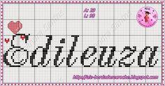 Bom dia!!!  Mais uma semana terminando e um lindo FDS começando...Obaaa!!!  Hj vou mostrar alguns nomes que eu fiz com o Monograma q. eu cri...