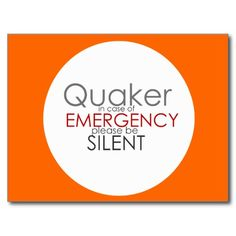 Quaker Emergency Post Cards