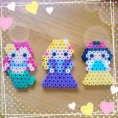 Disney Princess perler beads by pipipi.0315