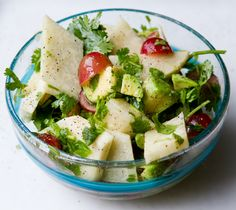 Mexican Salad: Jicama and Cilantro    lots of good recipes at this site...vegan