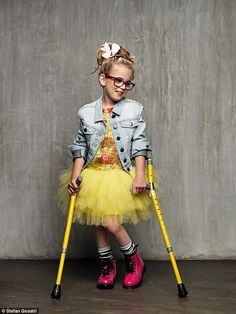 Young model Emily Prior (pictured) with cerebral palsy has revealed she's hoping to challenge the glamorous industry to include disabled people