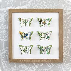 Fjärilstavlor – 3D paper butterflies | Craft & Creativity – Pyssel & DIY