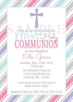13 best first communion baptism invitations images on pinterest