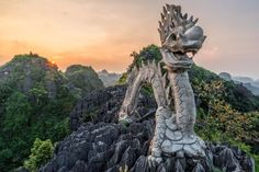 500 steps above the Mua Cave in Tam Coc. Discovered by Jimmy Dau at Tam Coc, Ninh Binh, Vietnam